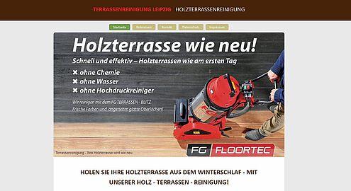 Screenshot Website Terrassen-Reinigung Leipzig