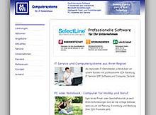 Website-Screenshot MWi-Computersysteme