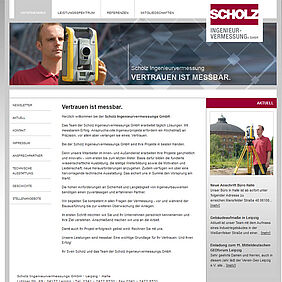 Screenshot vermessung-scholz.de