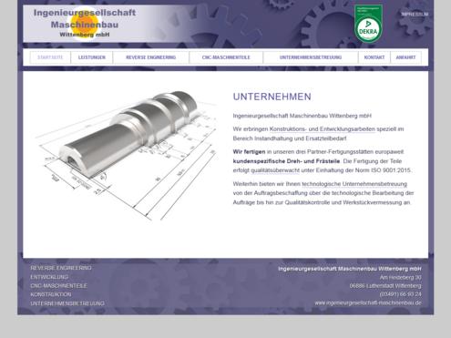 Screenshot Website Ingenieurgesellschaft Wittenberg