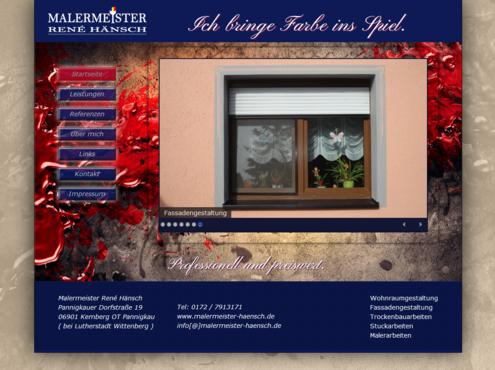 Screenshot responsive Website Malermeister Hänsch