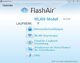 Screenshot FlashAir-Software