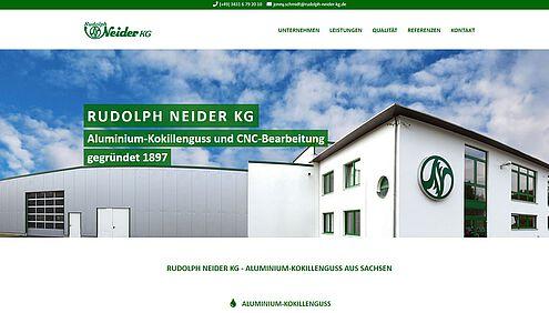 Screenshot Website Rudolph Neider KG