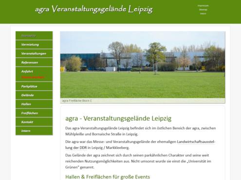Screenshot reponsive Website agra- veranstaltungsgelände