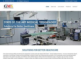 Responsive TYPO3-Website GMS GmbH German Medical Solutions