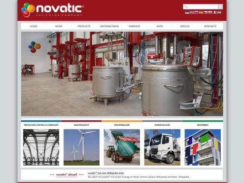 Screenshot Website novatic.com