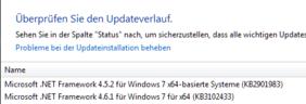 Windows-Update-Verlauf für .net kontrollieren