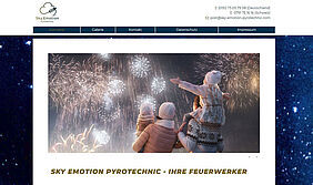 Screenshot Website Sky Emotion Pyrotechnic