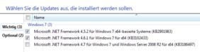 Windows-Updates für .net auswählen